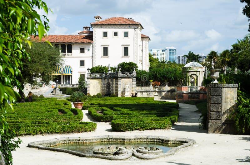 Construction de musée de Vizcaya à Miami photos stock