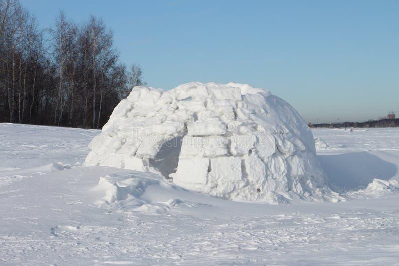 Construction de neige d'igloo photos libres de droits