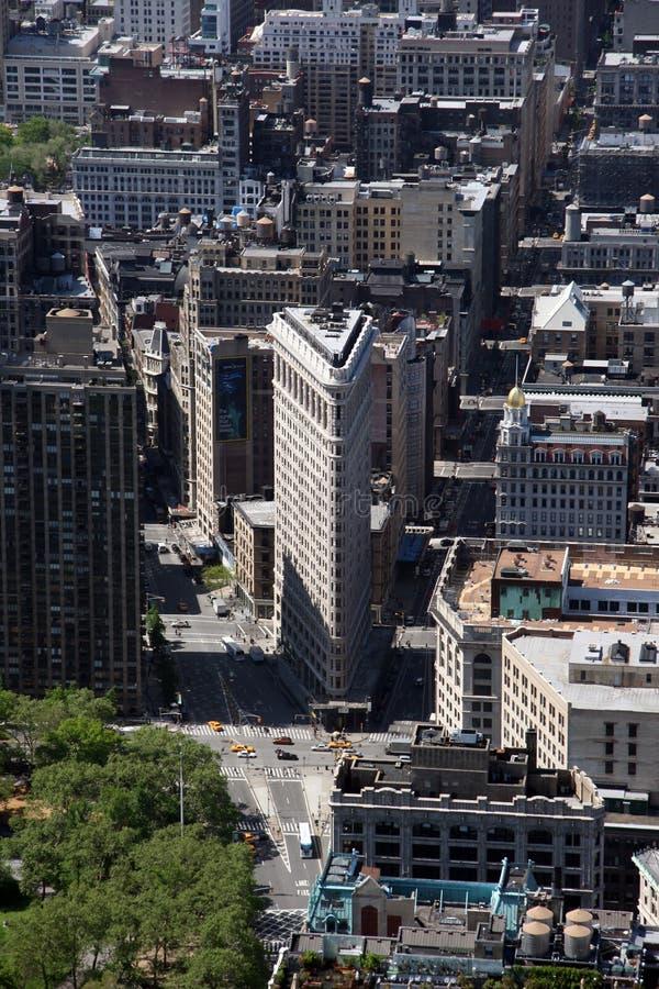 Construction de New York City Flatiron à Manhattan images libres de droits