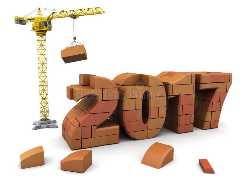 Construction de nouvelle année illustration de vecteur