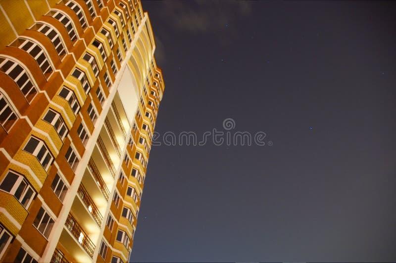 Construction de nuit photos libres de droits