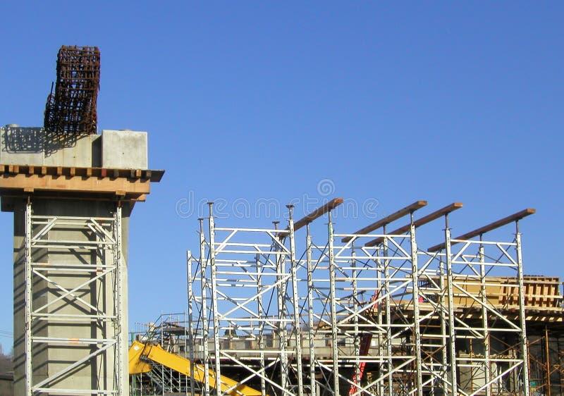 Construction de passage supérieur image stock
