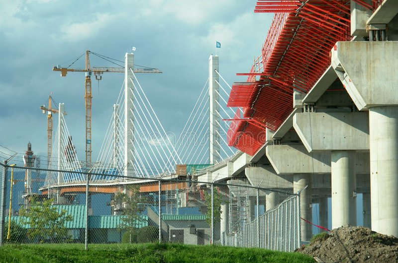Construction de passerelle images libres de droits