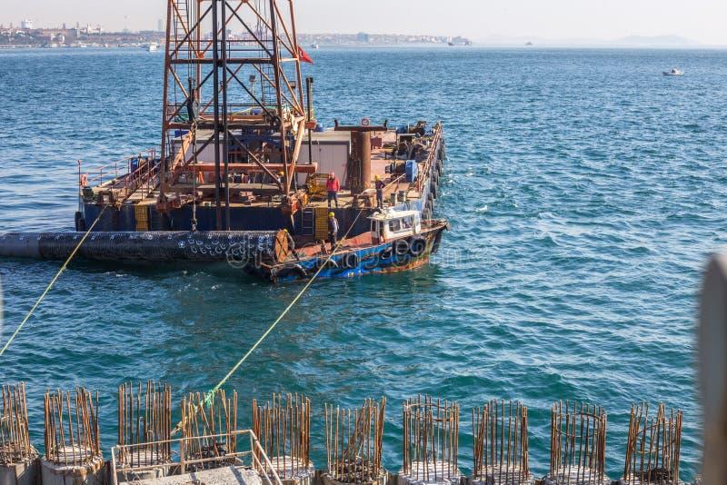 Construction de port de croisière de Galataport, Istanbul, Turquie image stock