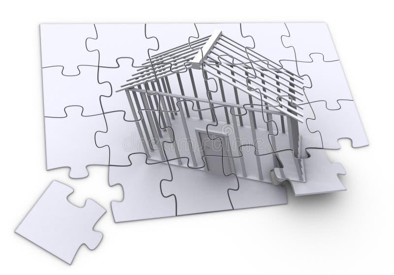 Construction de puzzle illustration stock