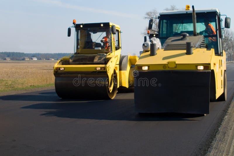 Construction de route image stock