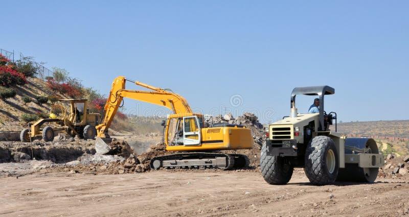 Construction de routes photos libres de droits