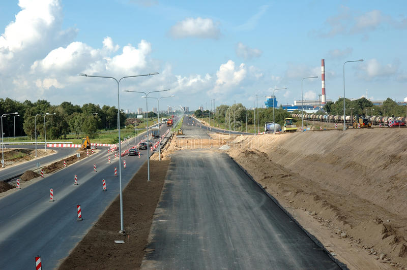 Construction de routes photos stock