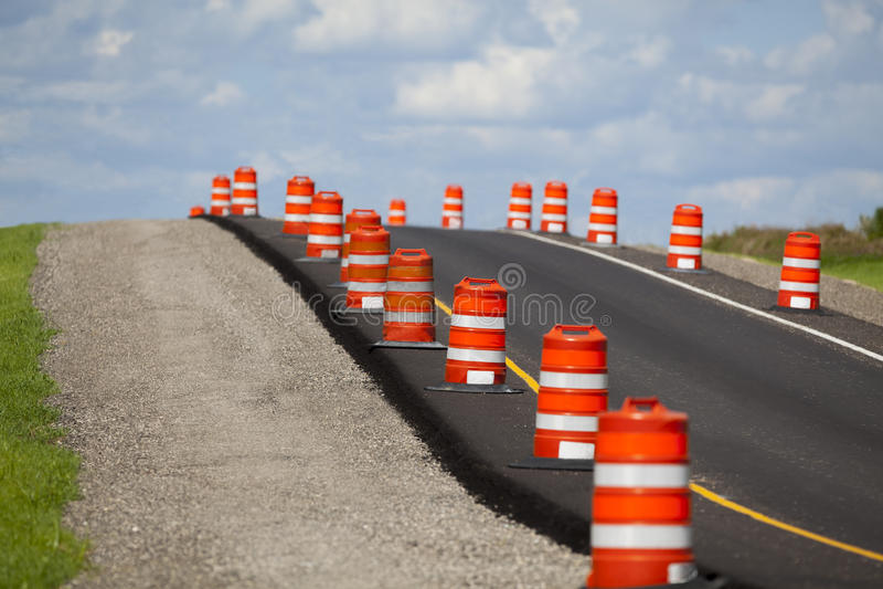 Construction de routes image libre de droits