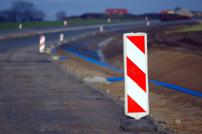 Construction de routes exprès photographie stock