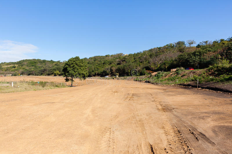 Construction de terrassements de route photos libres de droits