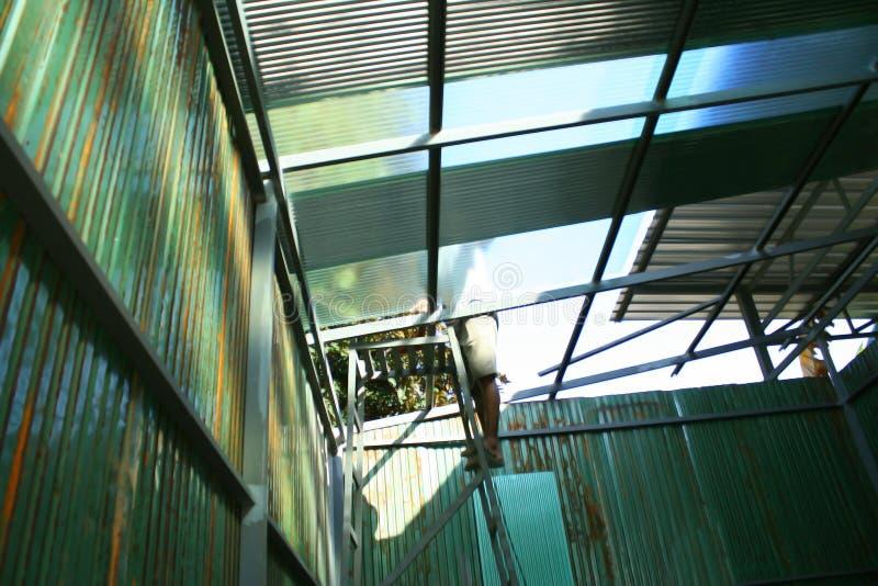Construction de toiture images libres de droits