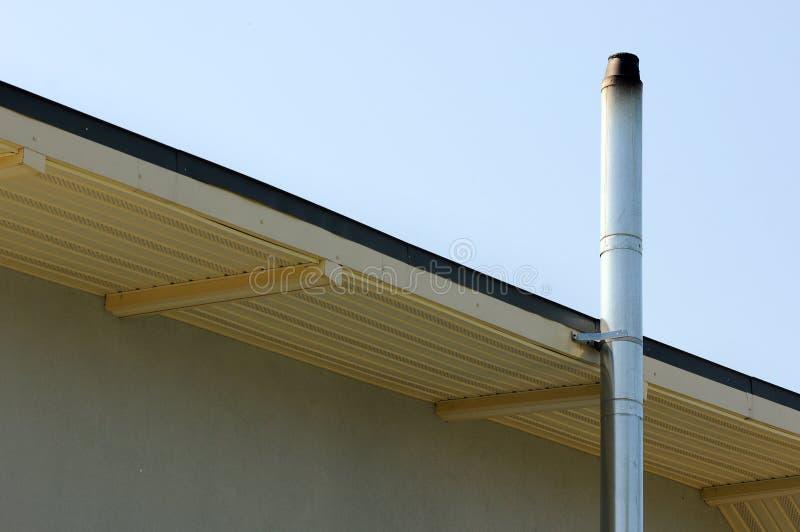 Construction de toiture système de chauffage individuel Tuyau coaxial de cheminée de tuyau de chauffage de Chambre coaxiale de sy photo stock