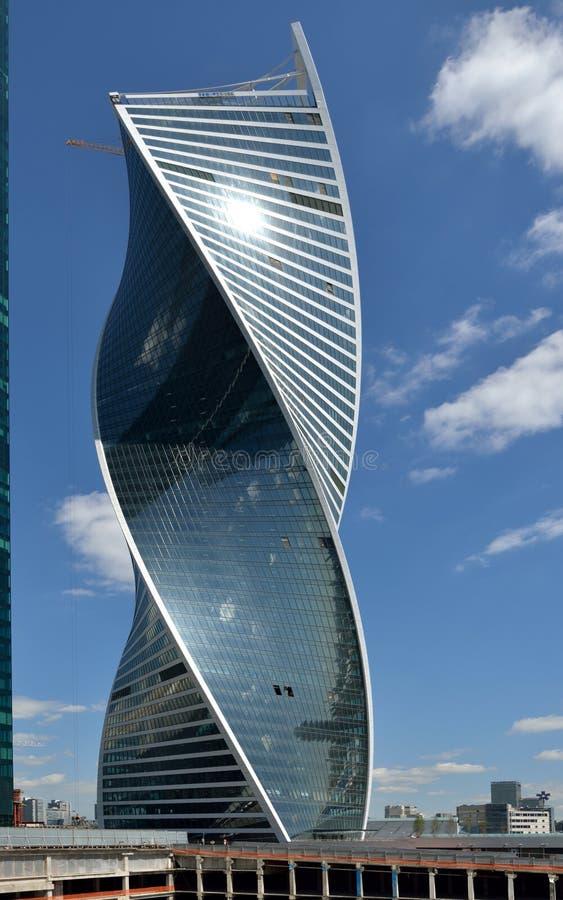Construction de tour d'évolution à Moscou, Russie images stock