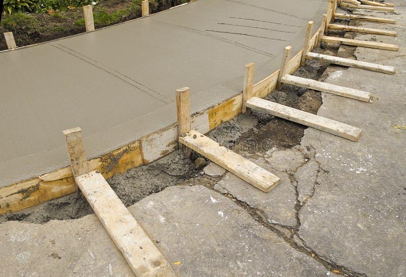Construction de trottoir image libre de droits