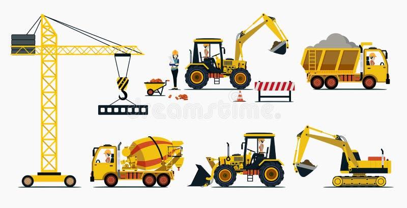 Construction de véhicule illustration libre de droits