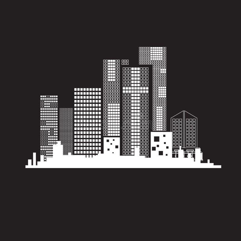 Construction de vecteurs noire et blanche sur la terre arrière illustration libre de droits