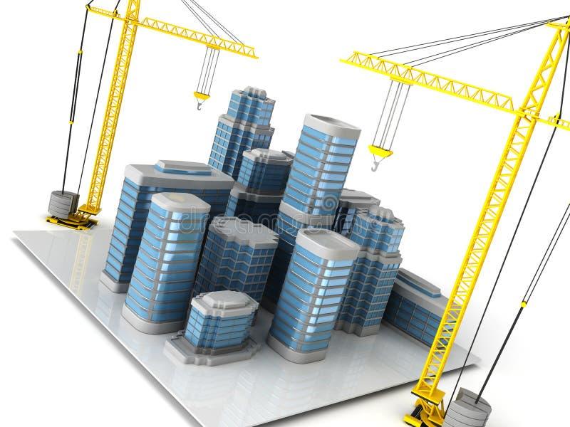 Construction de ville illustration de vecteur