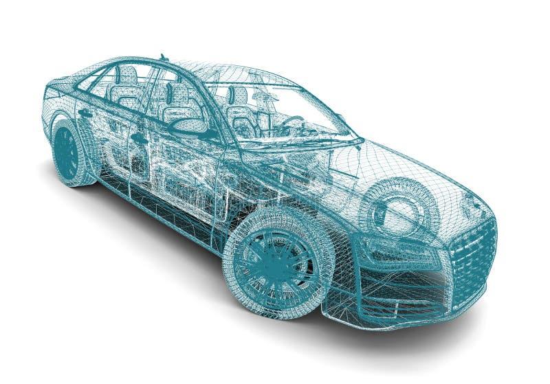 Construction de voiture illustration de vecteur