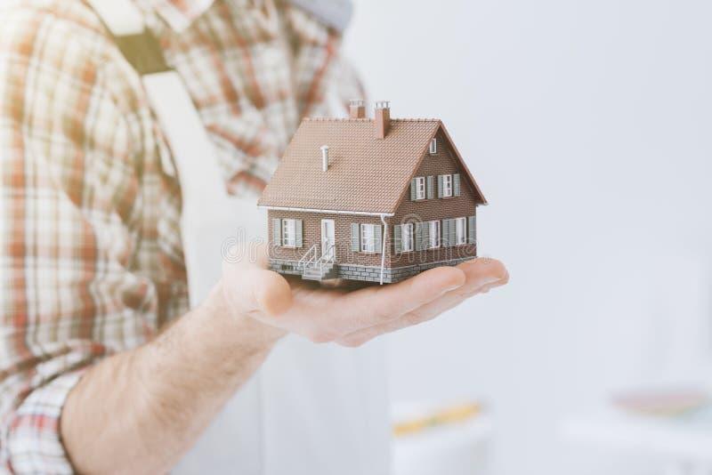Construction de votre maison image libre de droits