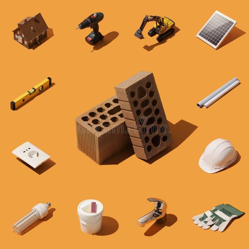 Construction de votre nouvelle maison illustration de vecteur