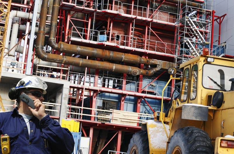 Construction des travailleurs d'usine et de site photographie stock