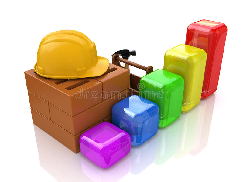 Construction and diagram stock image