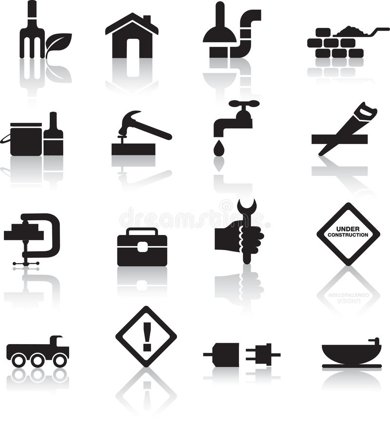 Download Construction And Diy Icon Set Stock Vector - Illustration: 14409219