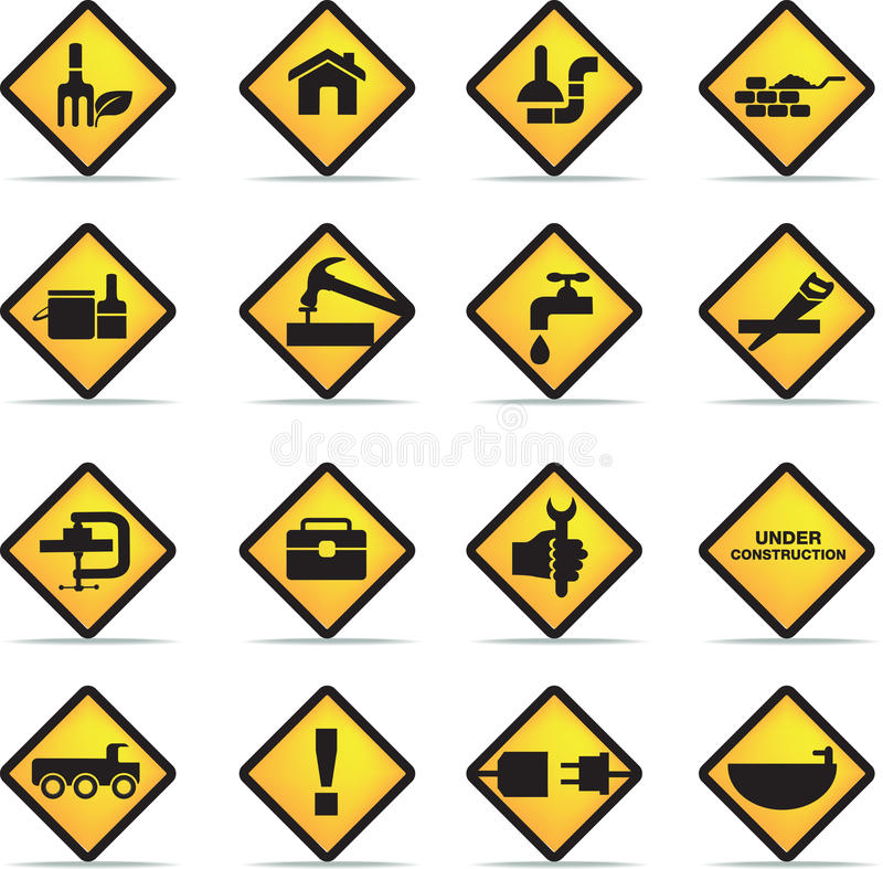 Construction And Diy Icon Set Stock Photography