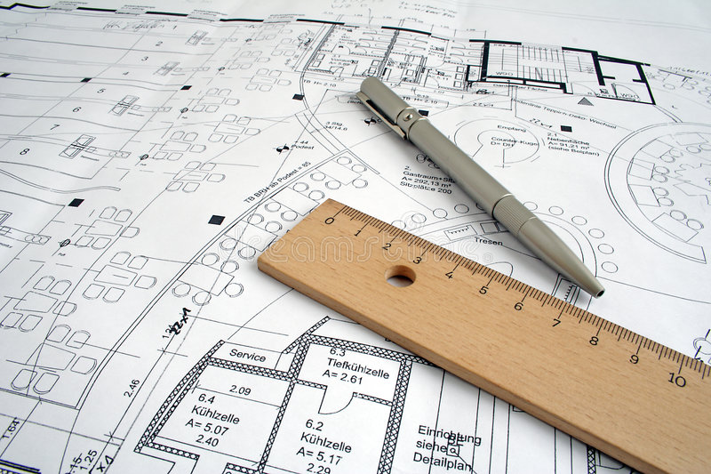 Construction drawing stock photography