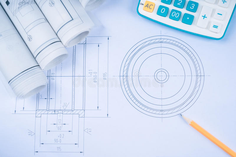 Construction drawings slide caliper roller bearings on blueprint download construction drawings slide caliper roller bearings on blueprint architecture and building concept stock photo malvernweather Choice Image