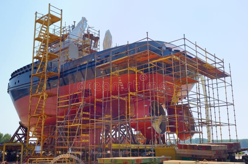 Construction du bateau photo stock