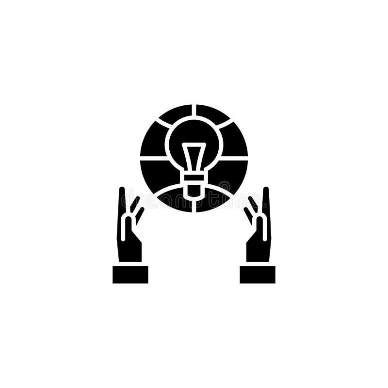Construction du concept noir d'icône Construction du symbole plat de vecteur, signe, illustration illustration stock