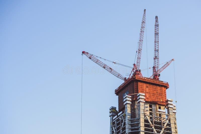 Construction du nouveau gratte-ciel photo libre de droits