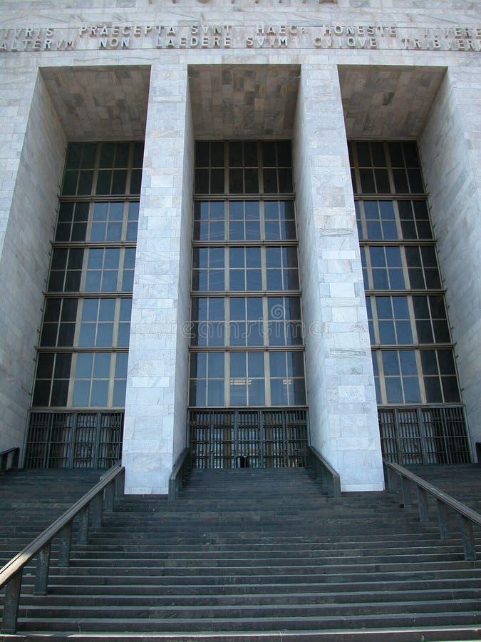 Construction du palais de justice à Milan, Italie images stock