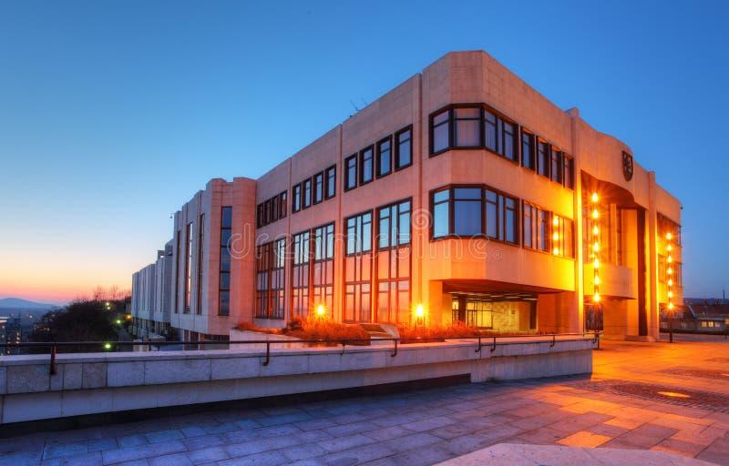 Construction du Parlement à Bratislava photo stock