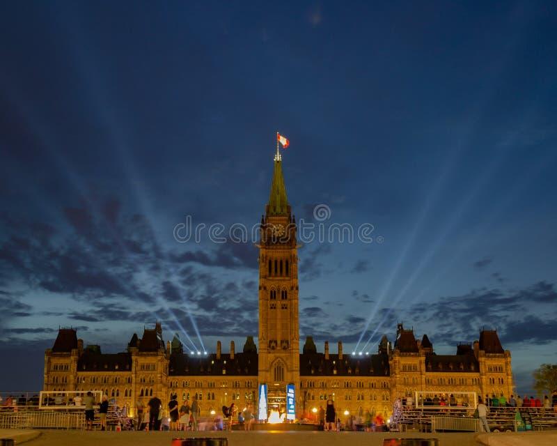 Construction du Parlement à Ottawa photo stock