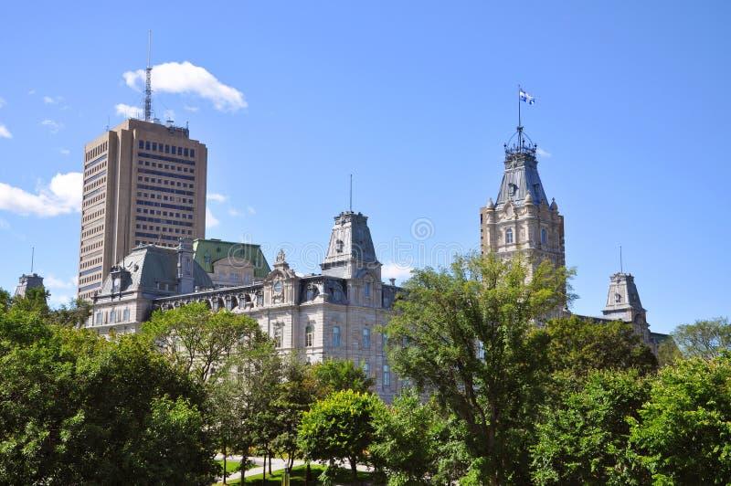 Construction du Parlement du Québec, Quebec City images stock