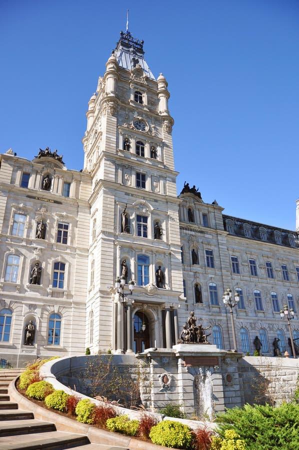 Construction du Parlement du Québec, Quebec City photographie stock