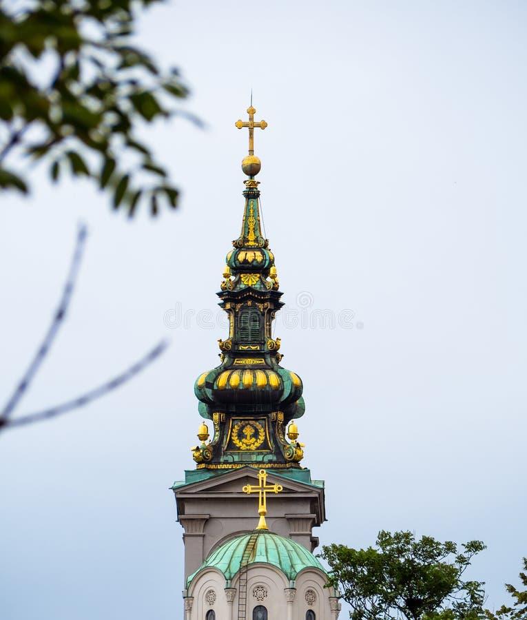 Construction du patriarcat à Belgrade, la Serbie image stock