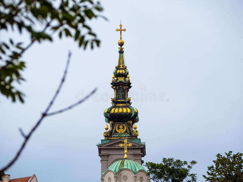 Construction du patriarcat, Belgrade, Serbie photos libres de droits