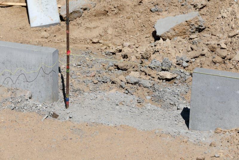 Construction du trottoir photographie stock