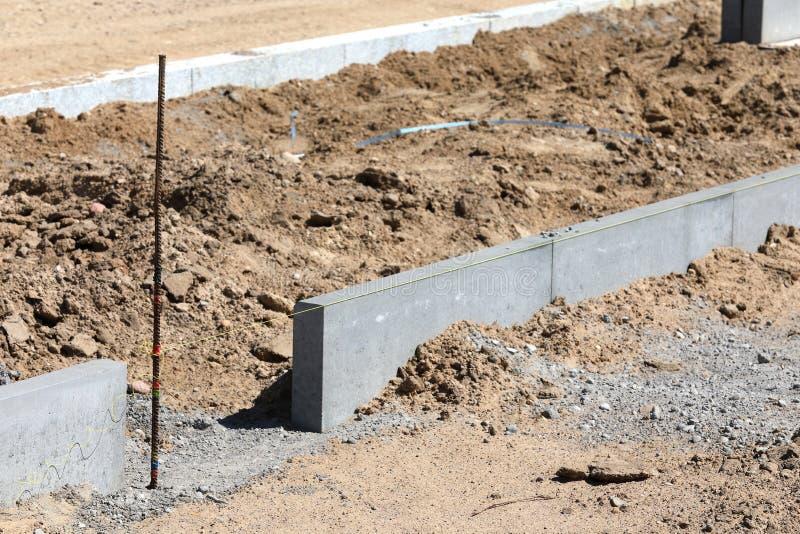Construction du trottoir photographie stock libre de droits