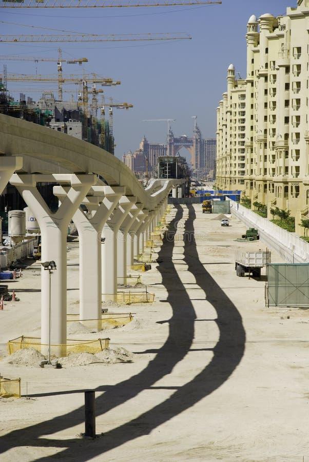 Construction in Dubai royalty free stock photography