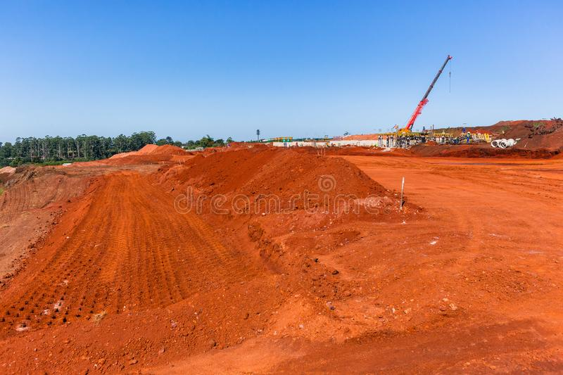 Construction Earthworks Housing Projects royalty free stock photo