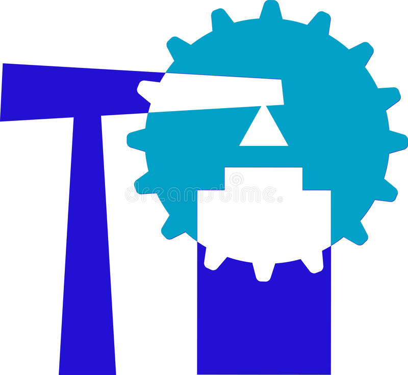 Construction emblem vector illustration