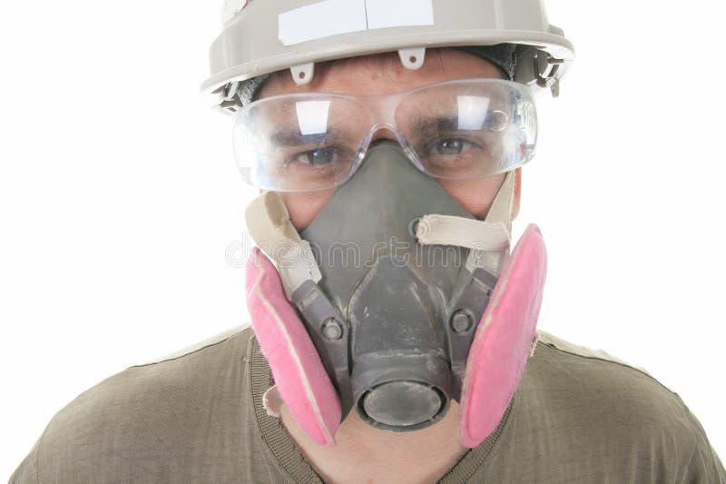 Construction employee, a man over white background stock photos