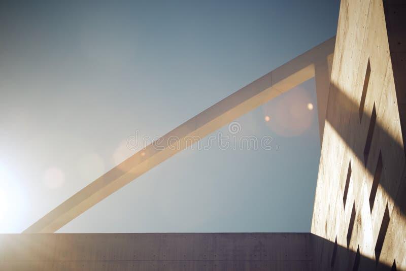 Construction en béton moderne photos libres de droits
