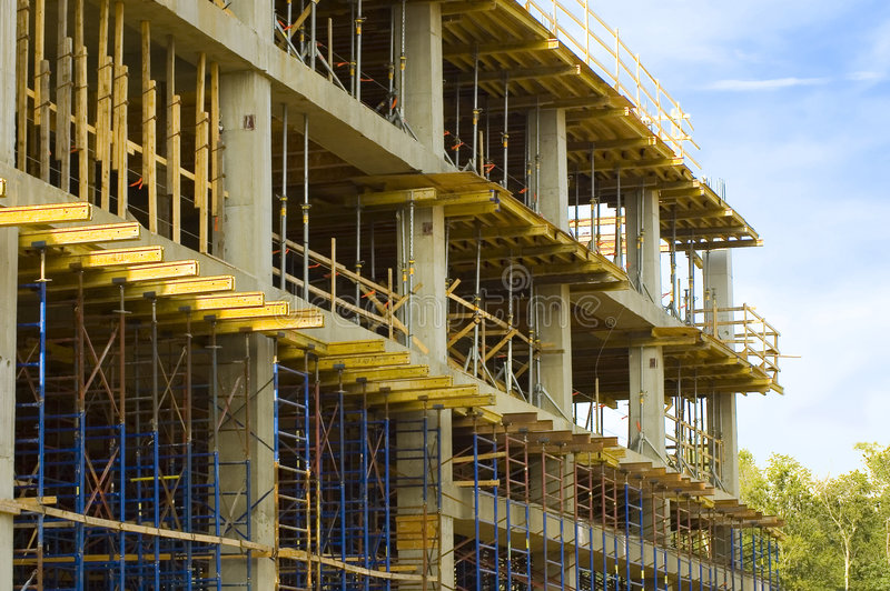Construction en construction photographie stock