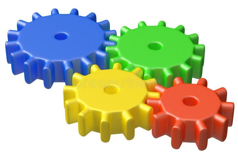 roue crantee plastique
